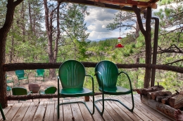 Porch, Chairs, Foot, Mora New Mexico