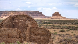 Chaco Canyon and Fajada Butte, New Mexico