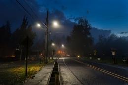 Fog Rolls through Troutdale, Oregon