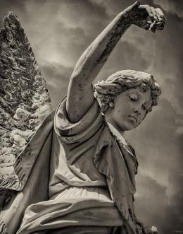Angel and Rose, Oddfellows Cemetery, Denton, Texas